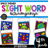 Color by Sight Word | Space | Fourth Grade Sight Words