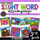Color by Sight Word | Farm Activities | Third Grade Dolch
