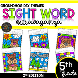 Color by Sight Word | Groundhog Day | Fifth Grade High Frequency Sight Words