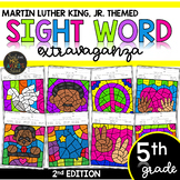 Color by Sight Word   Martin Luther King, Jr.   Fifth Grade Sight Words