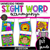 Color by Sight Word | Safari | Zoo Activities | First Grad