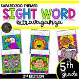 Color by Sight Word | Safari | Zoo Activities | Fifth Grad