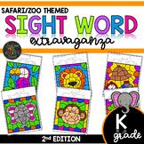 Color by Sight Word | Safari | Zoo Activities | Kindergart