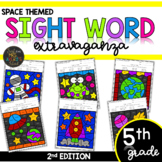 Color by Sight Word | Space | Fifth Grade Sight Words