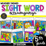 Color by Sight Word | Weather Activities | Fifth Grade Sig