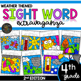 Color by Sight Word | Weather Activities | Fourth Grade Si
