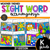 Color by Sight Word | Weather Activities | Kindergarten Si