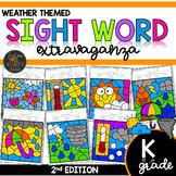 Color by Sight Word   Weather Activities   Kindergarten Si