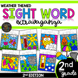 Color by Sight Word | Weather Activities | Second Grade Si