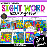 Color by Sight Word | Weather Activities | Third Grade Dol