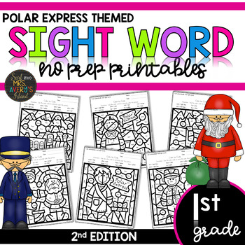 Color by Sight Word | Polar Express | First Grade Sight Words