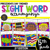 Color by Sight Word | Presidents Day | Fifth Grade Sight Words