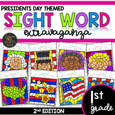 Color by Sight Word | Presidents Day | First Grade Dolch and Fry Sight Words