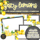 Lemon Classroom Decor Growth Mindset Posters Writing Prompts and PPT - EDITABLE
