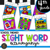 Back to School Themed Fourth Grade Sight Words Color by Code