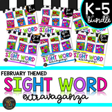February Sight Word Color by Code Bundle Valentine's Day Activities