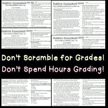 SCHOOL WIDE LICENSE Multiple Choice Reading Bundle Assessments