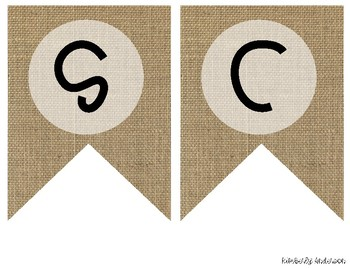 """SCIENCE"" Farmhouse Burlap Focus Wall Pennant / Banner"