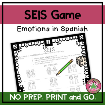 ¡SEIS! - Emotions in Spanish (Images)