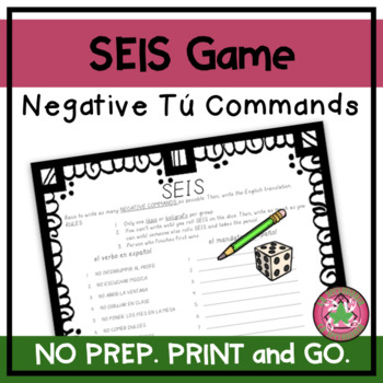 ¡SEIS! - Negative Commands