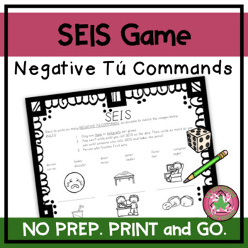 ¡SEIS! - Negative Commands with Images