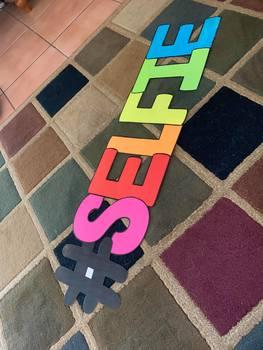 #SELFIE PRINTABLE Letters