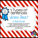 4 Types of Sentences - Task Cards and Game