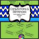 Conjunctions and Sentences Quiz with Answer Key