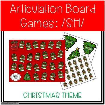 /SH/ Articulation Board Games - Christmas Theme