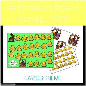 /SH/ Articulation Board Games - Easter Theme