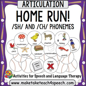 /SH/ and /CH/ Phonemes - Home Run!