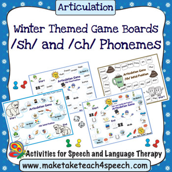 /SH/ and /CH/ Phonemes - Winter Themed Game Boards