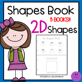 Learn 2D Shapes and Shape Words Book or Worksheets