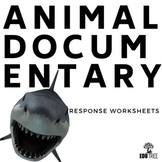 """""""SHARK"""" DOCUMENTARY RESPONSE WORKSHEETS - DIFFERENTIATED"""