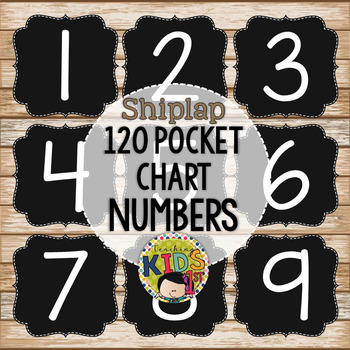 {SHIPLAP} 120 Pocket Chart Numbers