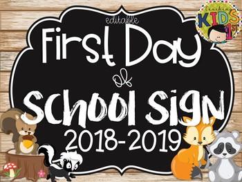 First Day Of Preschool Sign 2018 2019 Teaching Resources Teachers