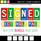 Alphabet SIGNED RECTANGLE BUNDLE Sign Letters Numbers Prin