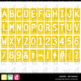 Alphabet SIGNED  RECTANGLE YELLOW Letters Numbers Printable Clip Art