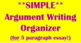 **SIMPLE** Argument Writing Organizer
