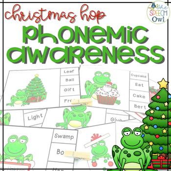 #SLPChristmasHop Phonemic Awareness Christmas Activities Freebie