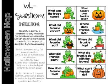 #SLPHalloweenHop Halloween Hop WH- Questions
