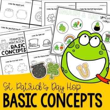 #SLPSTPATRICKHOP Basic Concepts St. Patrick's Day Activities Freebie