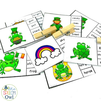 #SLPSTPATRICKHOP Phonemic Awareness St. Patrick's Day Activities Freebie