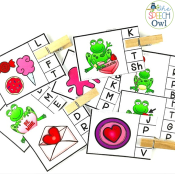 #SLPValentineHop Phonemic Awareness Valentine's Day Activities Freebie