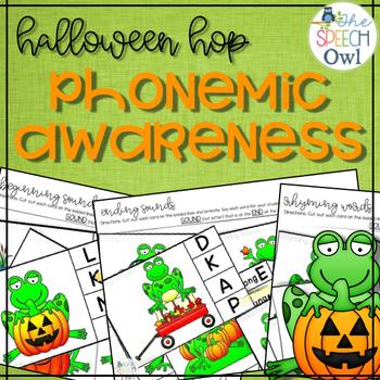 #SLPhalloweenhop Phonemic Awareness Halloween Activities Freebie