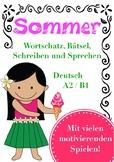 Sommer Deutsch DAF German - Bildkarten, Spiele, Sprechen + Schreiben, Wortschatz