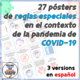 [SPANISH] COVID-19 SAFETY RULES POSTERS - 3 different versions