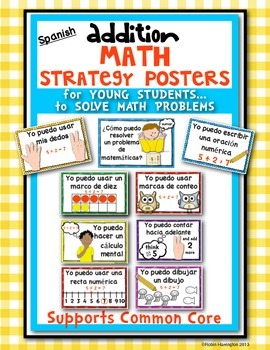 *SPANISH* Solving Math Problems {Strategy Posters for Addition}