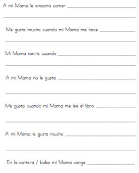 *SPANISH VERSION* Mother's Day Interview For Kids