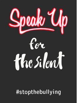 """SPEAK UP"" INSPIRATIONAL PRINT"